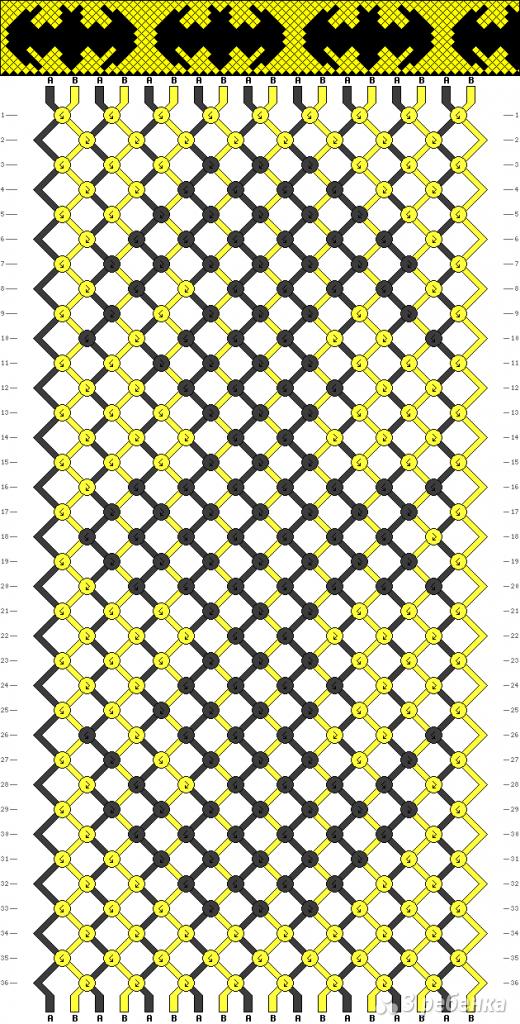 Схема фенечки 9560