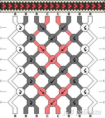 Схема фенечки 10917