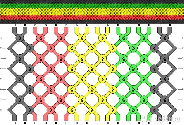 Схема фенечки 9711