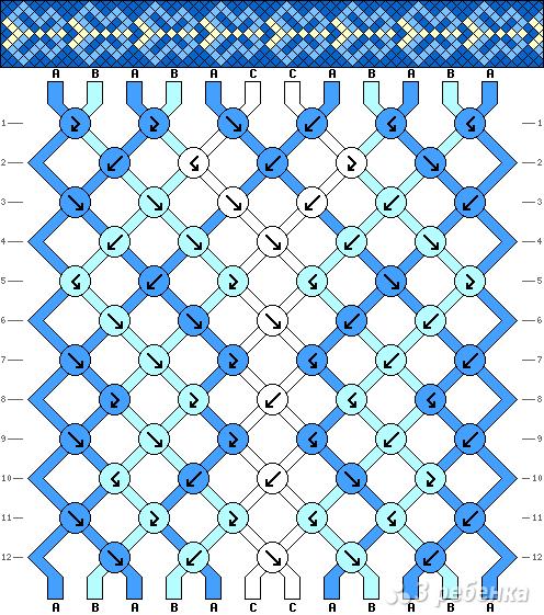Схема фенечки 9810