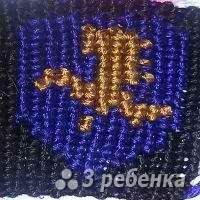 Схема фенечки прямым плетением 11363