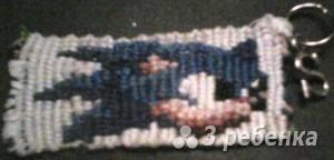 Схема фенечки прямым плетением 10528