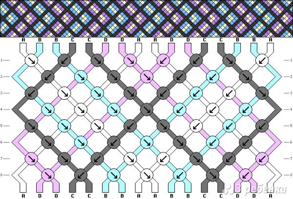 Схема фенечки 9996