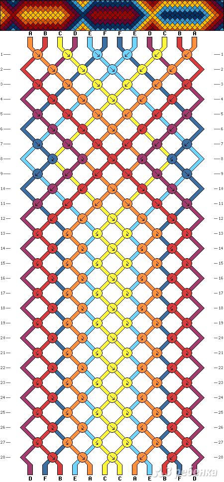 Схема фенечки 11185