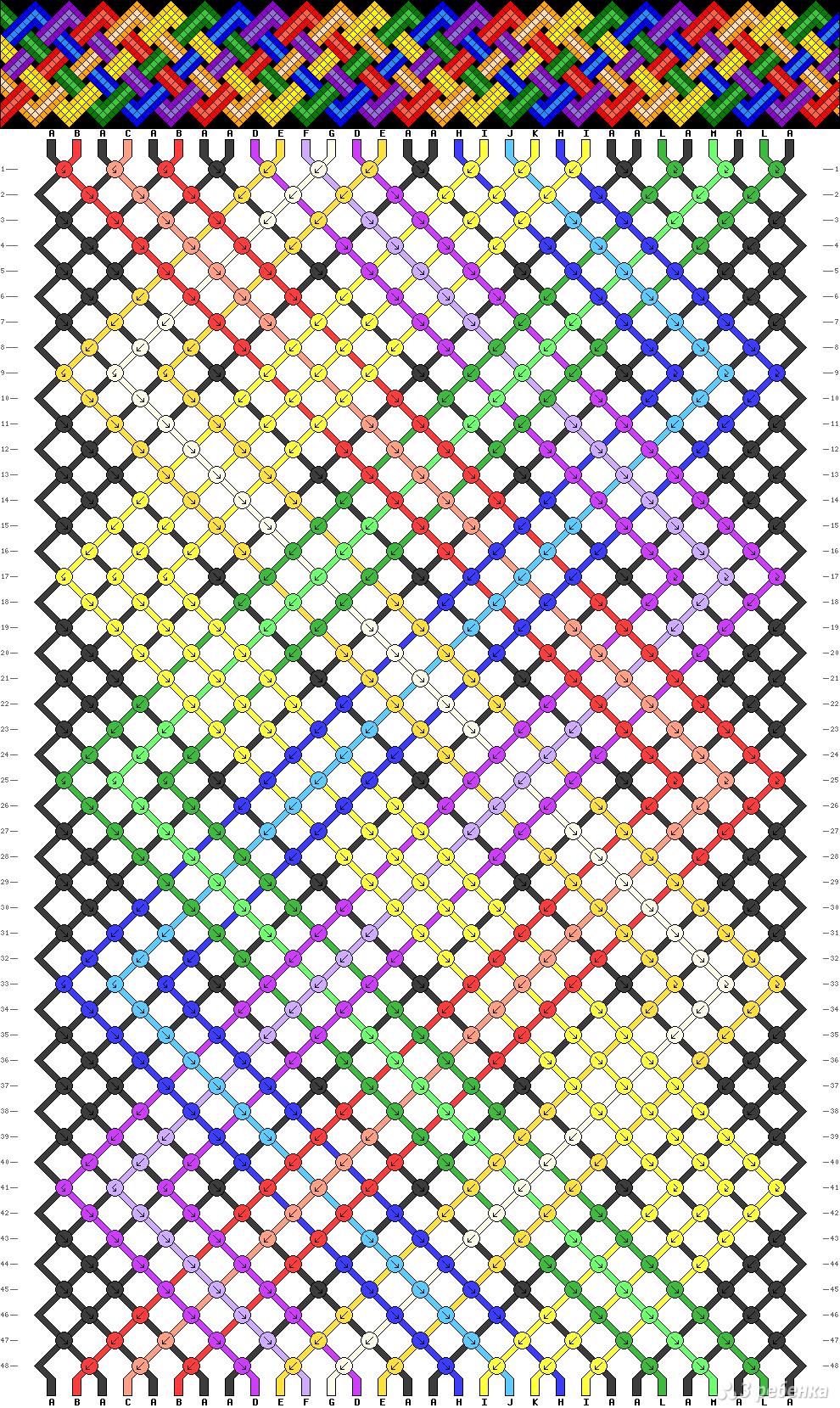 создание схем фенечек по картинке овладели