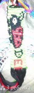 Схема фенечки прямым плетением 10144