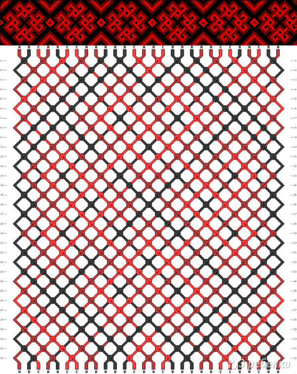 Схема фенечки 9729