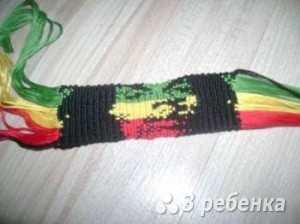 Схема фенечки прямым плетением 10214
