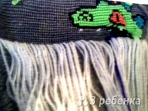 Схема фенечки прямым плетением 10166