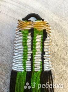 Схема фенечки прямым плетением 10633