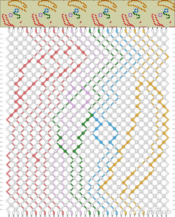 Схема фенечки 10029