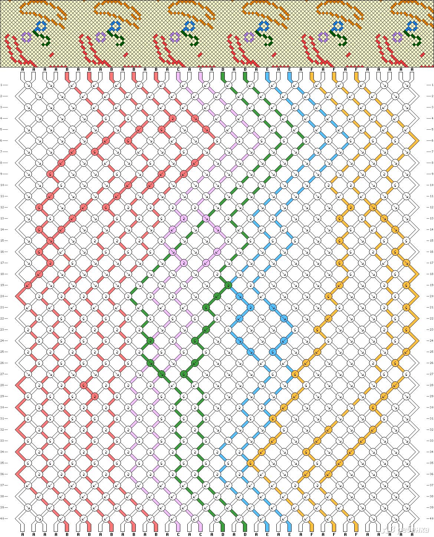 Создание схем для фенечек с картинки