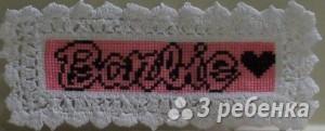 Схема фенечки прямым плетением 10346