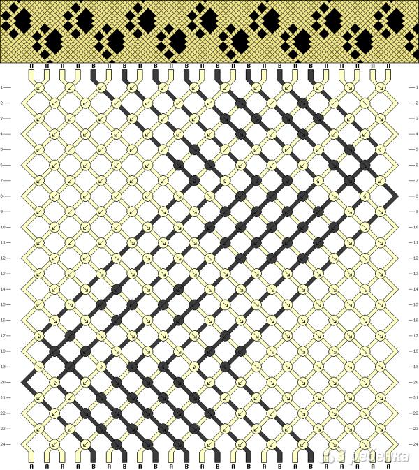 Схема фенечки 10806
