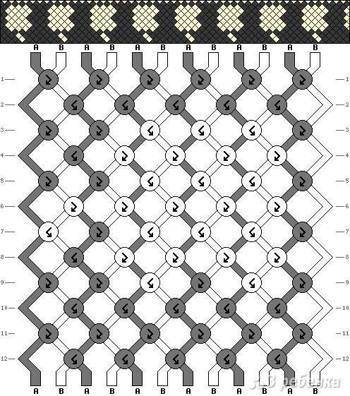 Схема фенечки 11044