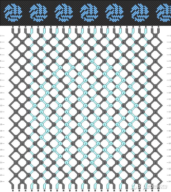 Схема фенечки 10010