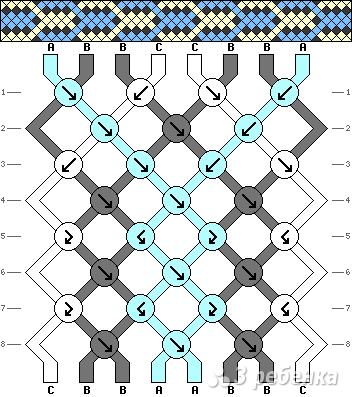 Схема фенечки 9925