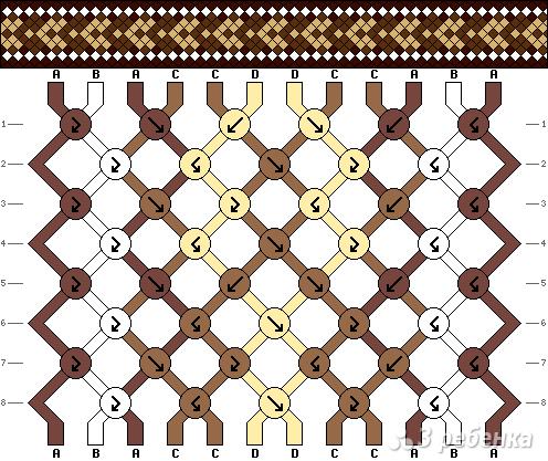 Схема фенечки 9800