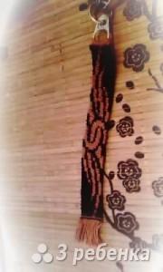 Схема фенечки прямым плетением 10181