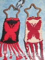 Схема фенечки прямым плетением 10384