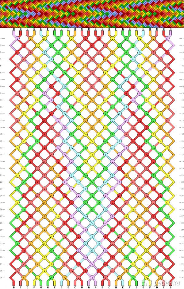 Схема фенечки 11106