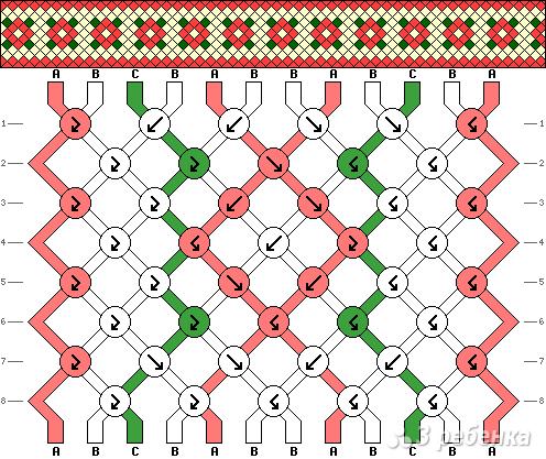 Схема фенечки 9659