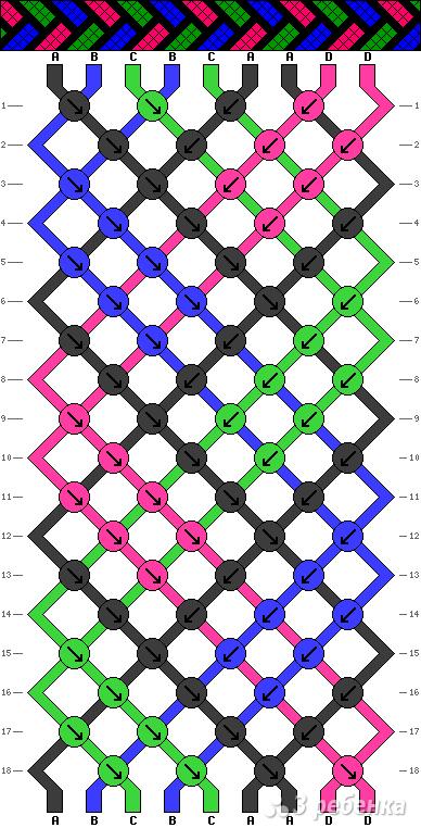 Схема фенечки 11050