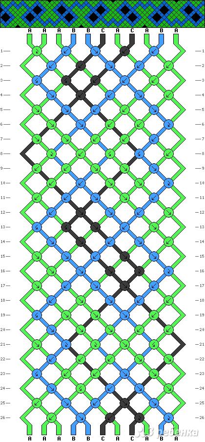 Схема фенечки 11068