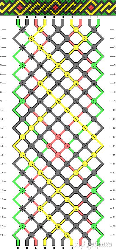 Схема фенечки 9785