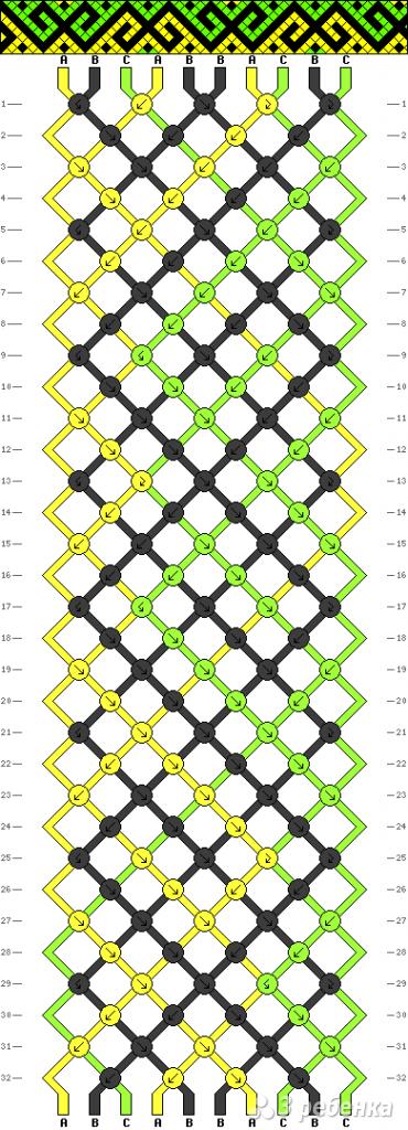 Схема фенечки 9671