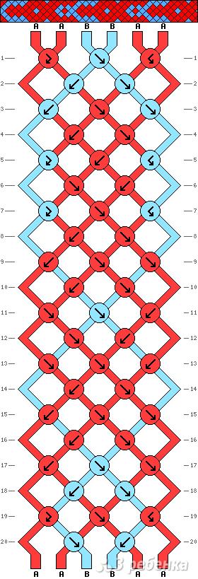 Схема фенечки 10834