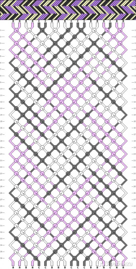 Схема фенечки 9756