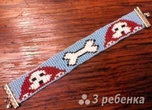 Схема фенечки прямым плетением 11377