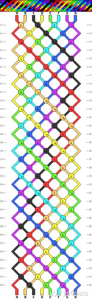 Схема фенечки 9909