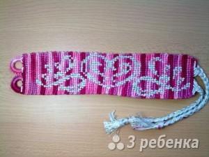 Схема фенечки прямым плетением 10668