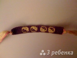 Схема фенечки прямым плетением 10773