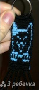 Схема фенечки прямым плетением 10719
