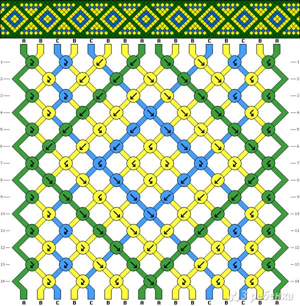 Схема фенечки 10886