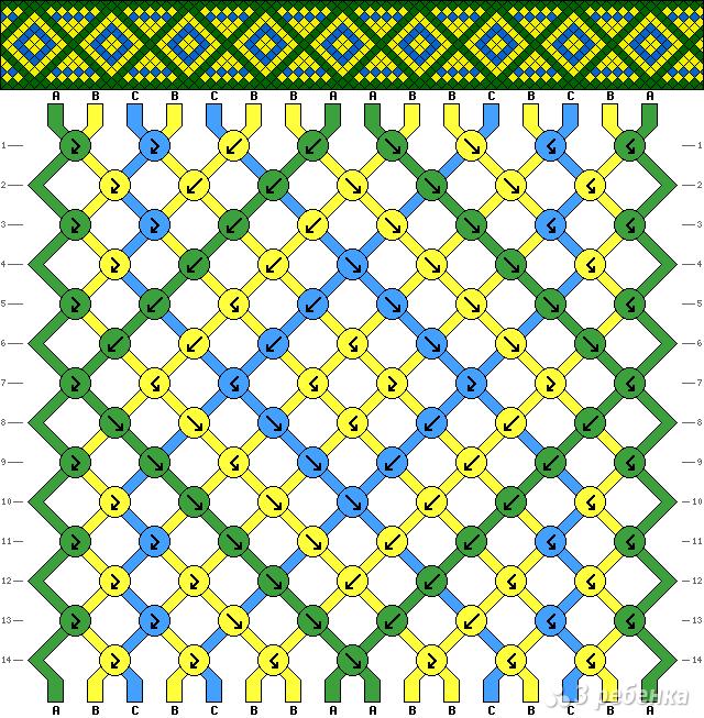 Создание схемы для фенечки по