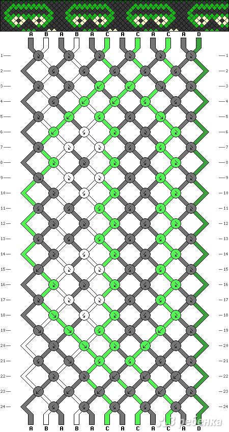 Схема фенечки 9882