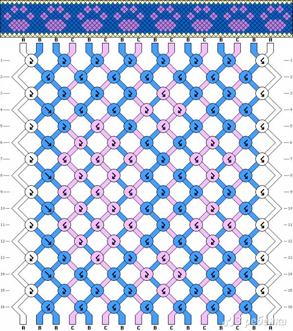 Схема фенечки 10444