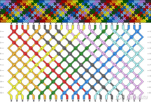Схема фенечки 9974