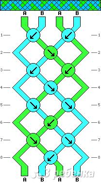 Схема фенечки 9537