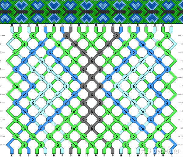 Схема фенечки 10971
