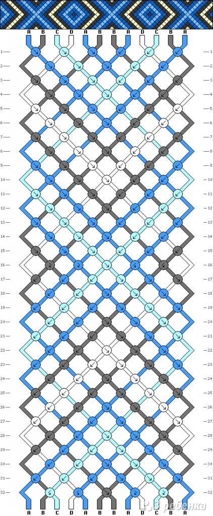 Схема фенечки 9896