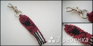 Схема фенечки прямым плетением 11343