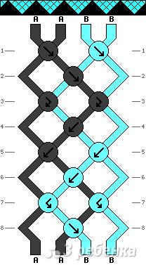 Схема фенечки 9517