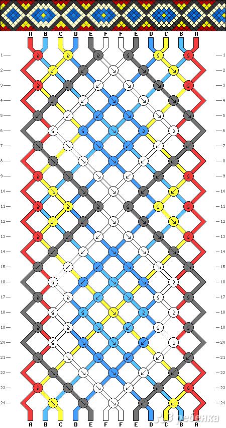 Схема фенечки 9817