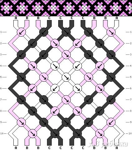 Схема фенечки 11029