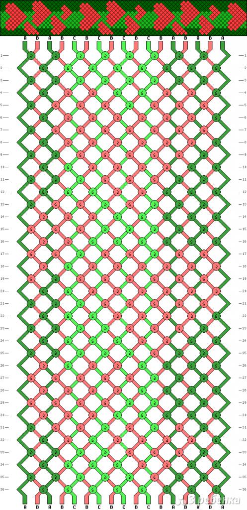 Схема фенечки 9936